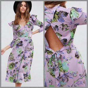 !6 HR SALE! NWT ASOS Lilac Floral wrap dress
